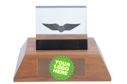 Logo Imprinted Employee Awards Trophies Engraved Plaques
