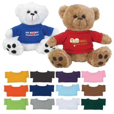 "8 ½"" Plush Big Paw Bear With Shirt"
